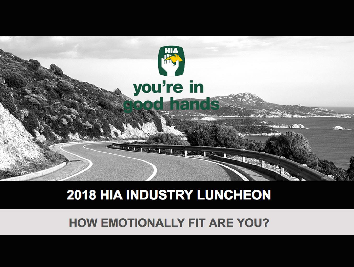 2018 HIA INDUSTRY LUNCHEON - 16/11/18